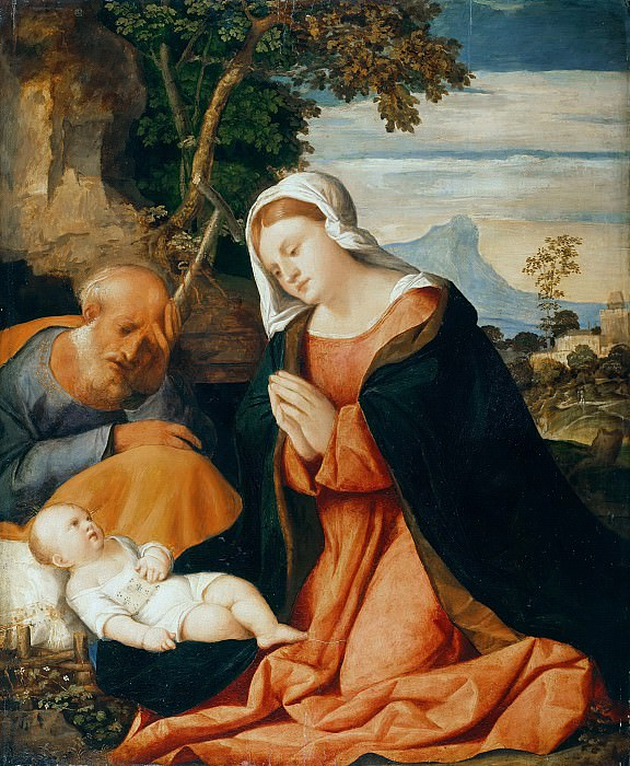 Jacopo Palma (c.1480-1528) - The Holy Family. Part 2