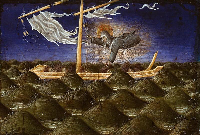 Джованни ди Паоло (1398-1482) - Святая Клара спасает терпящих кораблекрушение. Часть 2