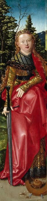 Hans Baldung (c.1485-1545) - Three Kings Altarpiece - Saint Catherine. Part 2