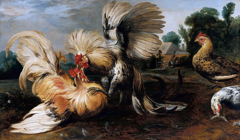 Frans Snyders (1579-1657) - The Cockfight. Part 2