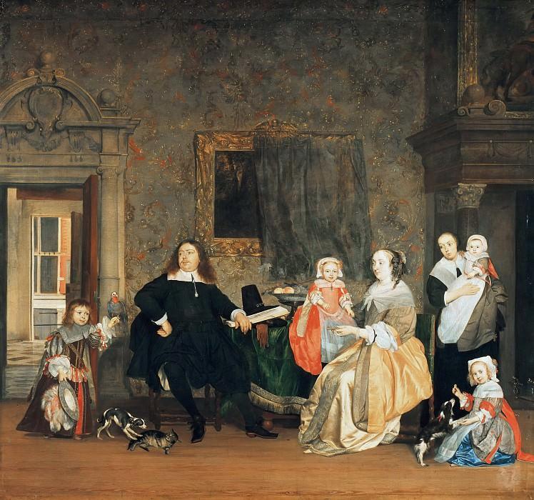 Gabriel Metsu (1629-1667) - The mayor of Dr. Gillis Valckenier family. Part 2