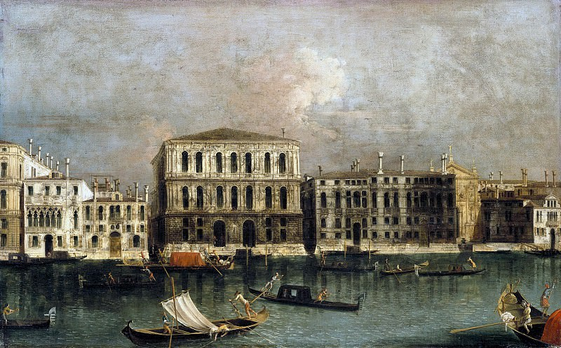 Francesco Albotto (c.1723-1758) - View of the Grand Canal with views of the Ca Pesaro. Part 2