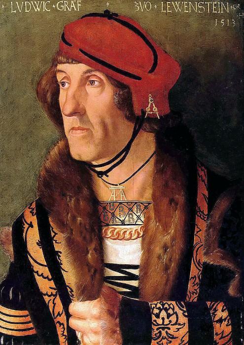Hans Baldung (c.1485-1545) - Portrait of Ludwig, Count von Leuwenstein. Part 2