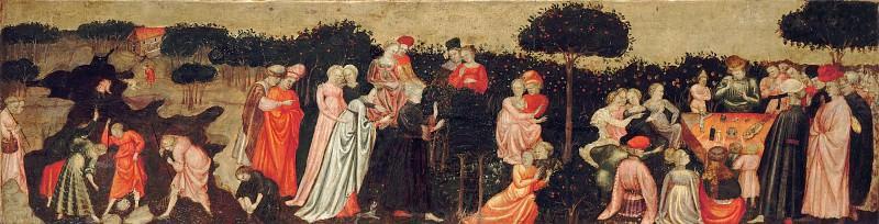 Giovanni di Francesco Toscani (1370-1430) - The Garden of Love. Part 2