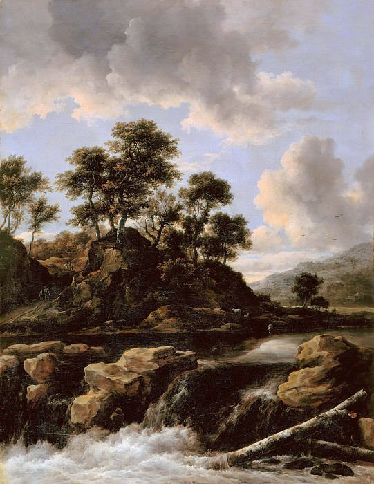 Jacob van Ruisdael (1628-29-1682) - The waterfall. Part 2