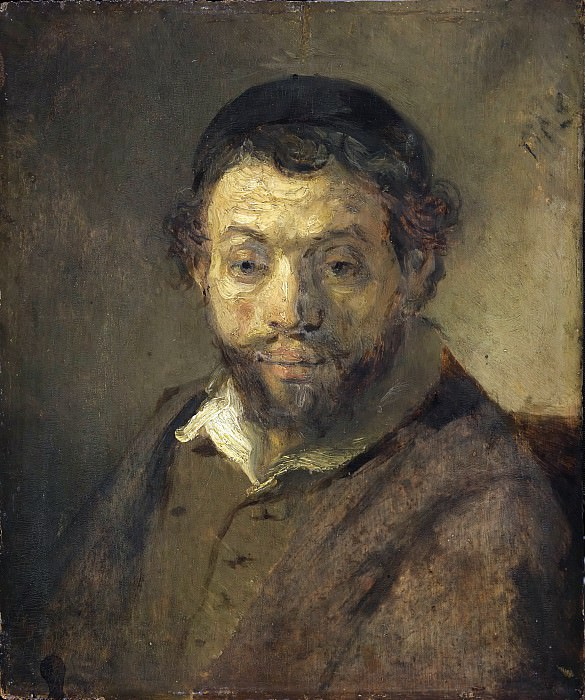 Rembrandt (attr) - Bust of a young Jew. Part 2