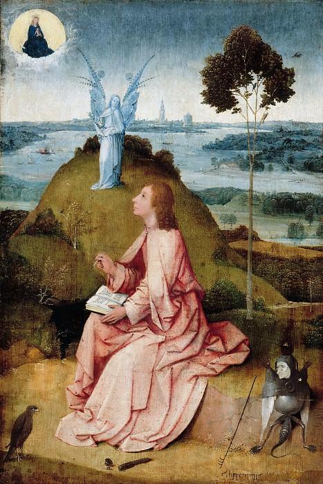 Босх, Иероним (c.1450-1516) - Иоанн Богослов на Патмосе. Часть 2