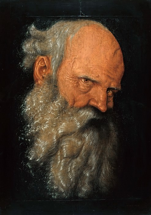 Hans Baldung (c.1485-1545) - Head of an old man. Part 2