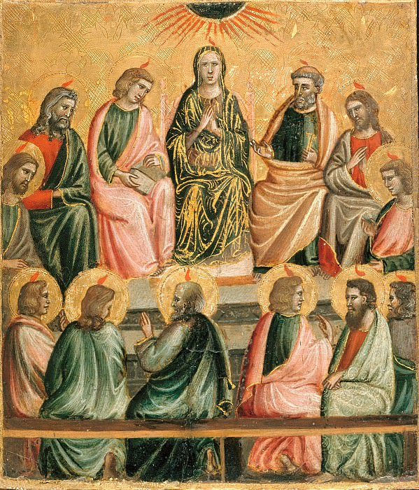 Giovanni Baronzio (c.1326-c.1362) - The outpouring of the Holy Spirit. Part 2