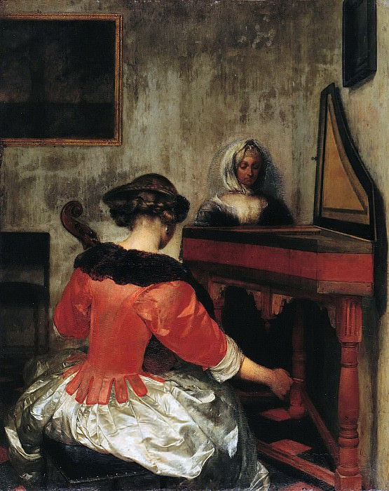 Gerard ter Borch II (1617-1681) - The concert. Part 2