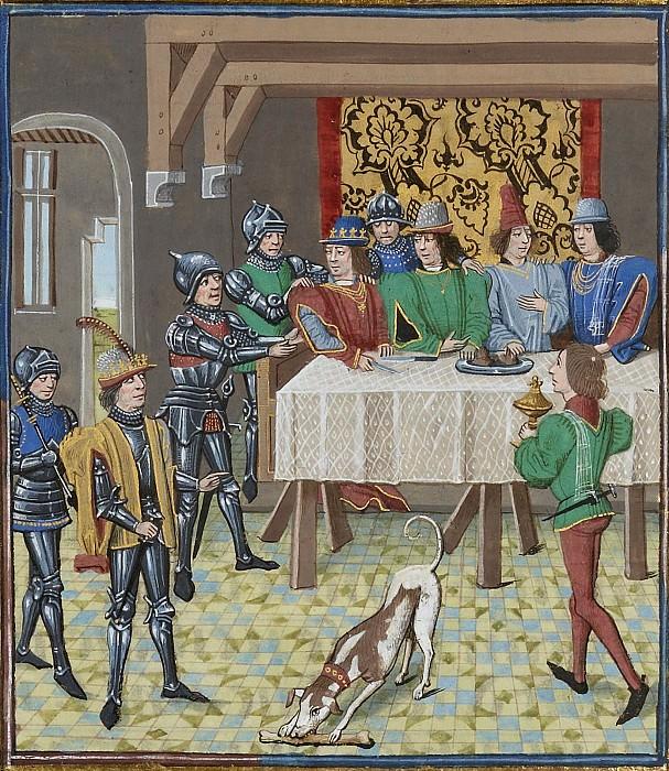 A197L Король Франции Иоанн Добрый приказывает арестовать Карла злого, короля Наваррского. Хроники Фруассара