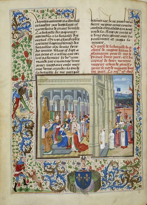 A284L Коронация Карла V и Жанны Бурбонской в Реймсе в 1364 году. Хроники Фруассара