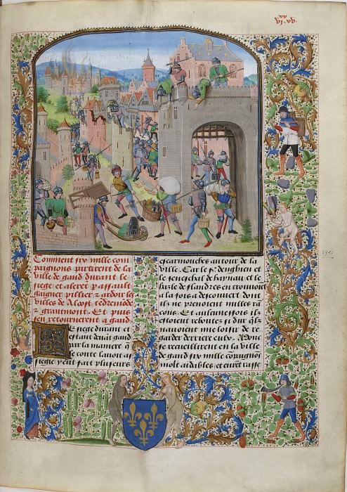 B135R Осада и разграбление Граммона (Герардсбергена) войсками маршала Гийома IV Энгиенского в 1380 году. Хроники Фруассара