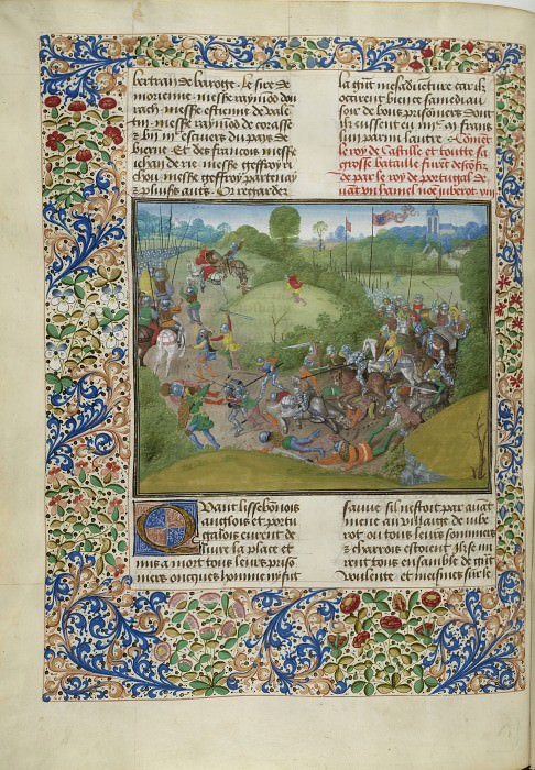 C062L Битва при Алибаротте между португальцами и кастильцами в 1385 году. Хроники Фруассара