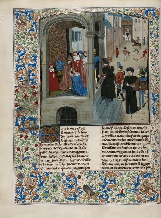 D014L Папа Клемент VII и король Франции Карл VI. Хроники Фруассара