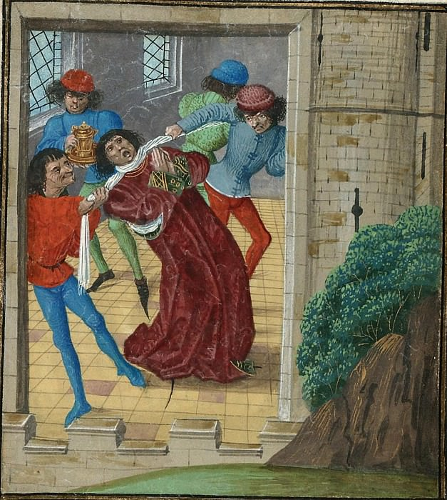 D289R Убийство Томаса Вудстока, герцога Глостера, в Кале в 1397 году. Хроники Фруассара