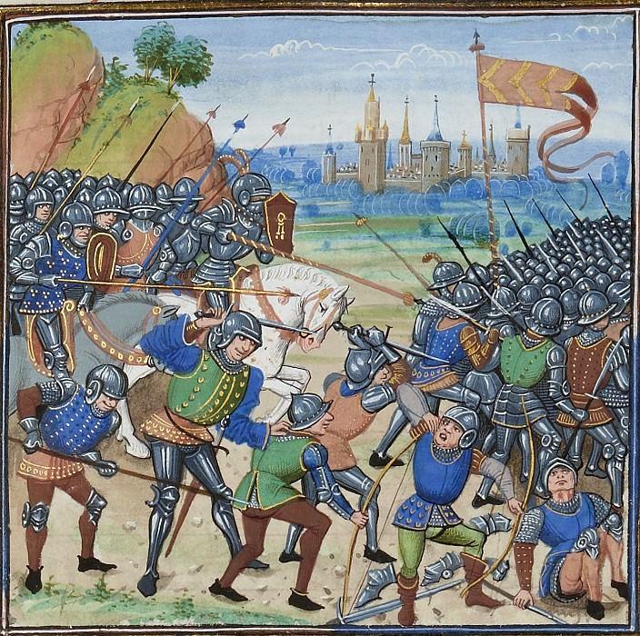 A243R Битва при Ножан-сюр-Сен 1359 году между епископом Труа и объединенными войсками англичан и наваррцев. Хроники Фруассара