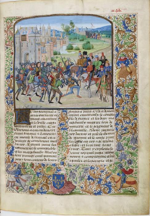 B265R Посланники Карла VI извещают парижан о возвращении короля. Хроники Фруассара