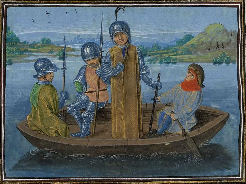 C245L Бегство Роберта де Вера, герцога Ирландского из Рэдкот Бридж в 1387 году. Хроники Фруассара