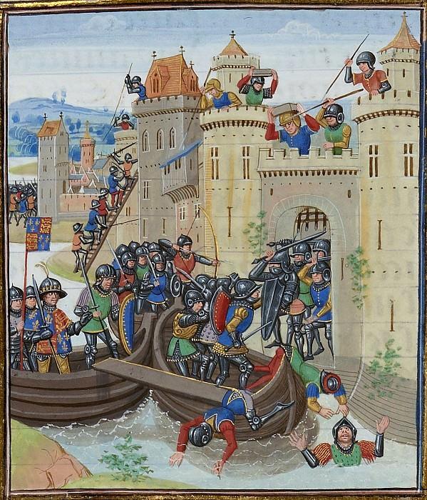 A074L Осада Турнэ Эдуардом III в 1340 году. Хроники Фруассара