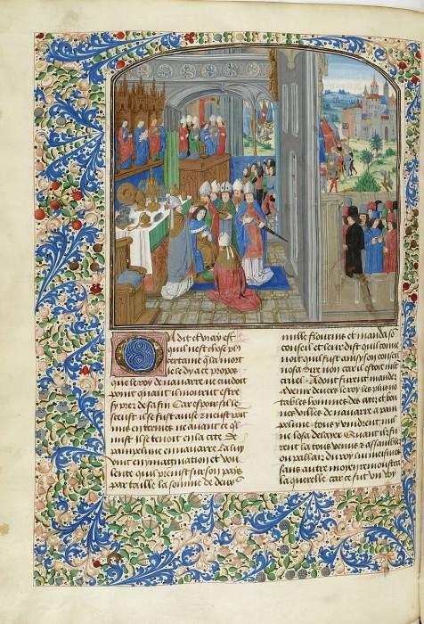 C282L Коронация Карла III Наваррского в Памплуне и осада Вентадура французами. Хроники Фруассара