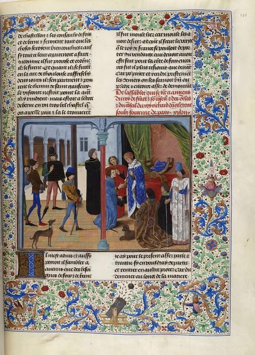 D141R Амьенская конференция в 1392 году. Хроники Фруассара