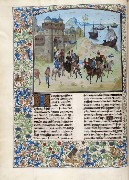 D058L Отбытие Людовика II Бурбонского из Генуи в Тунис на осаду Карфагена в 1390 году. Хроники Фруассара