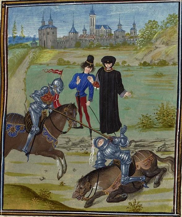 D021R Турнир в Кале в 1389 году. Хроники Фруассара
