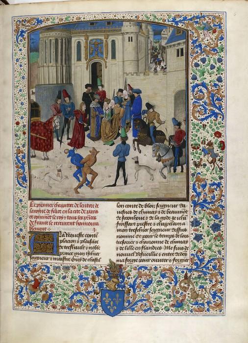 D006R Приезд Изабеллы Баварской в Париж в 1389 году. Хроники Фруассара