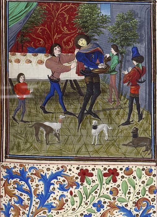 D125R Смерть Гастона Феба де Фуа в 1391 году. Хроники Фруассара