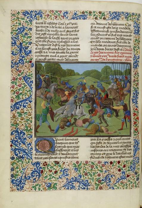 C082L Армия османского султана Мурада I в битве с сербами. Хроники Фруассара
