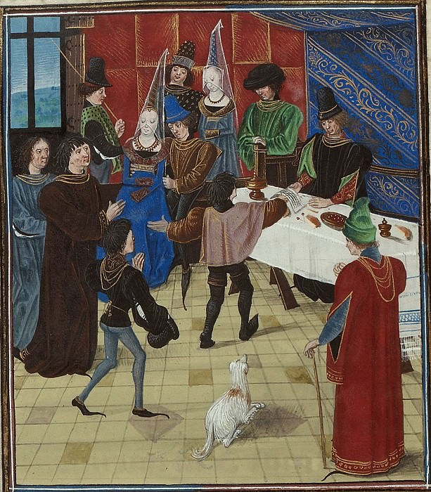 D024L Карл VI, Жан де Менгр и Жан де Семпи. Хроники Фруассара