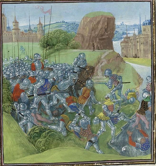 C326L Битва при Равенштайне между жителями Брабанта и жителями Гильдерланда в 1388 году. Хроники Фруассара
