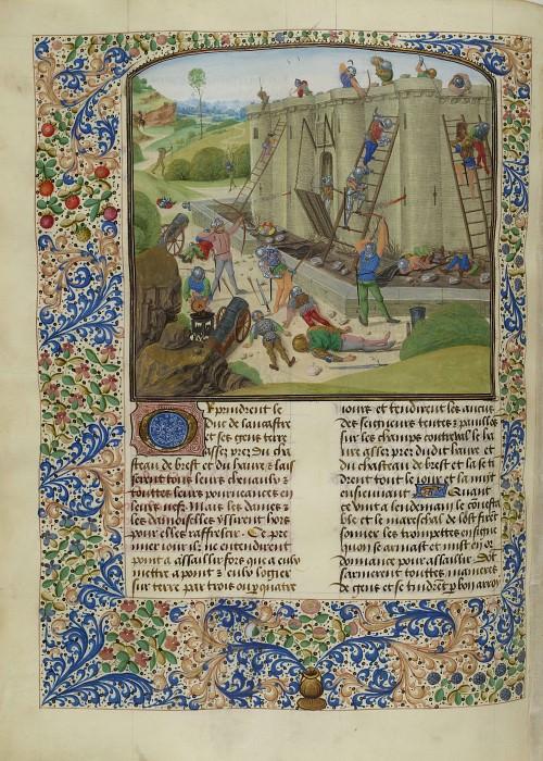 C116L Осада Бреста французами в 1386 году. Хроники Фруассара