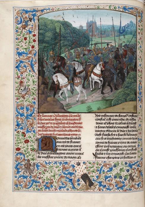 D153L Приступ безумия Карла VI в лесу Ле Мана в 1392 году. Хроники Фруассара