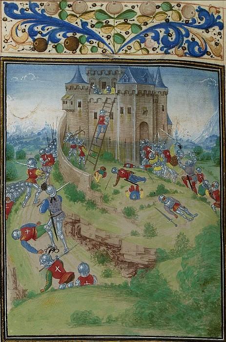 C016L Осада Лурда войсками герцога Анжуйского в 1373 году. Хроники Фруассара