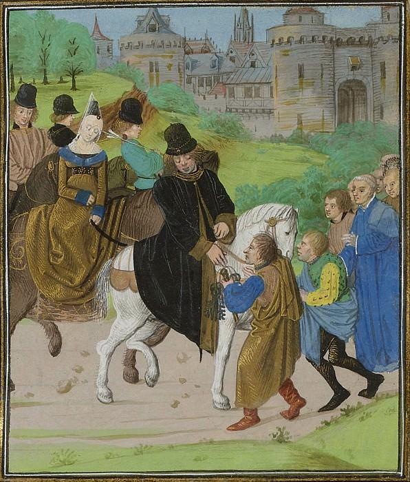 C122R Сдача Сантьяго-де-Компостела герцогу Ланкастерскому и его жене в 1386 году. Хроники Фруассара