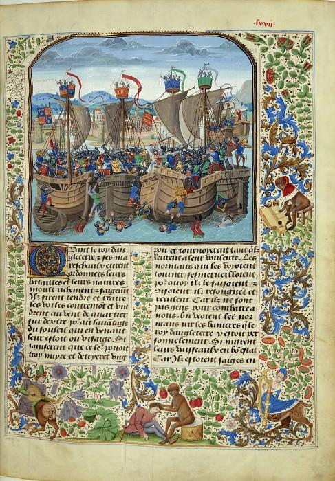 A072R Битва при Слейсе в 1340 году. Хроники Фруассара