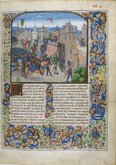 B171R Людовик Мальский, граф Фландрский, осаждает Гент в 1381 году. Хроники Фруассара