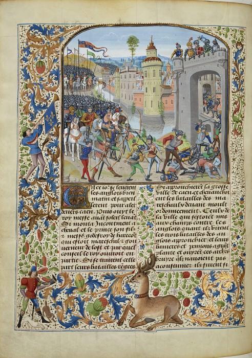 A157L Взятие Кана англичанами в 1346 году. Хроники Фруассара