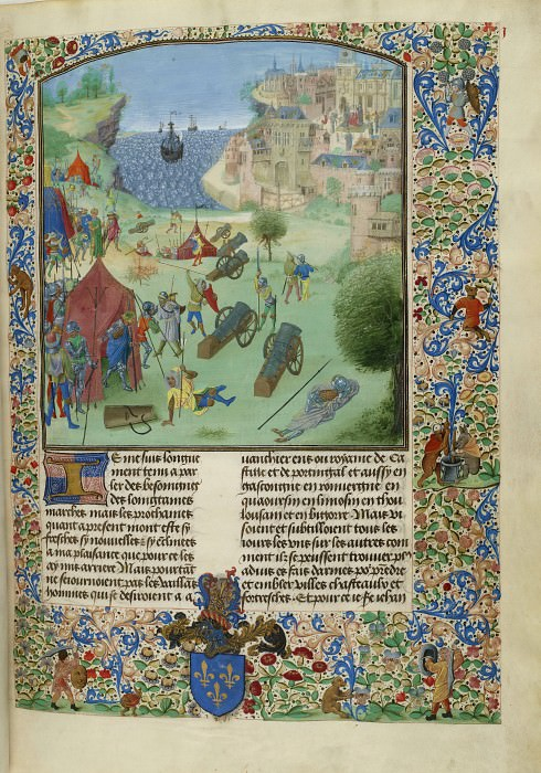 C001R Осада испанцами Лиссабона в 1383 году. Хроники Фруассара