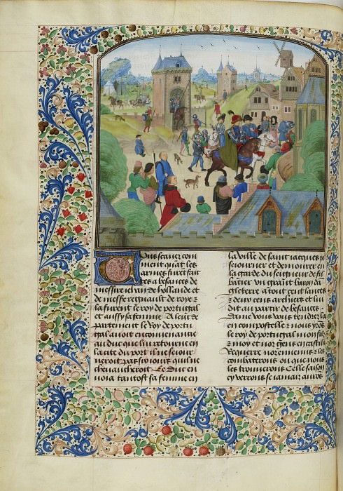 C211L English invaders in Ourense in 1387. Froissart's Chronicles