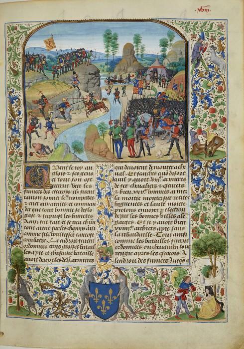 A018R Англо-Шотлантская война - форсирование Тайна английскими войсками. Хроники Фруассара