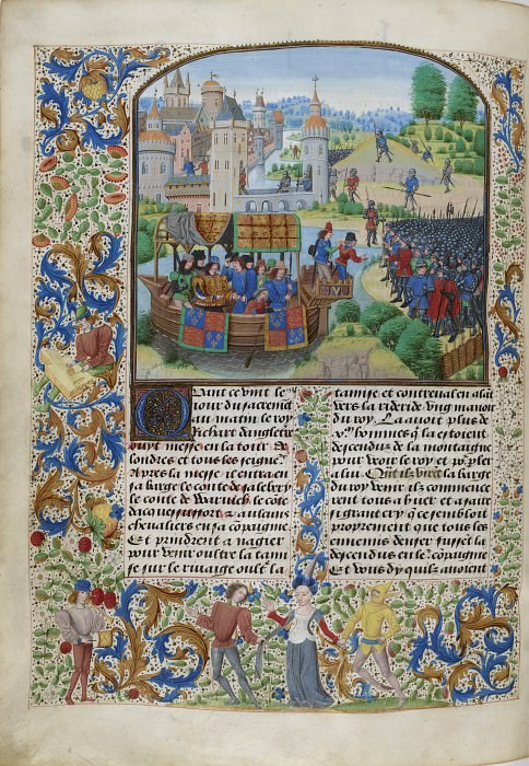 B154L Встреча короля Англии Ричарда II с кентскими повстанцами в Майл-Энде в 1381 году. Хроники Фруассара