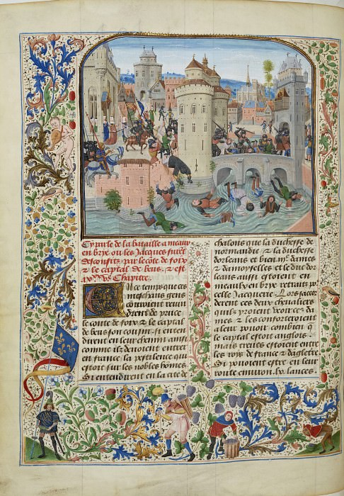 A226L The suppression of Jacquerie in Mo and the release of Count de Foix by Gaston Phoebe of the Duchess of Normandy and Orleans. Froissart's Chronicles