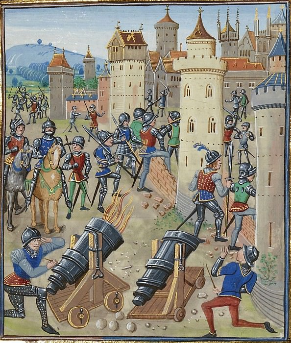 A387R The capture by the English of the Moncontour in 1371. Froissart's Chronicles