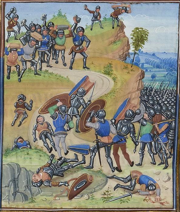 A272R Битва при Бринье в 1362 году - поражение французов от банд рутьеров. Хроники Фруассара