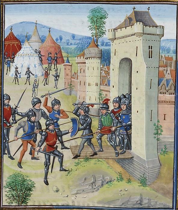 A104L Осада Эннебона в 1342 году Карлом Блуасским, герцогом Бретонским. Хроники Фруассара