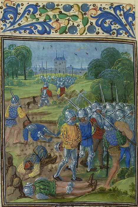 C041L Capture of Knight Louis Roubaud. Froissart's Chronicles