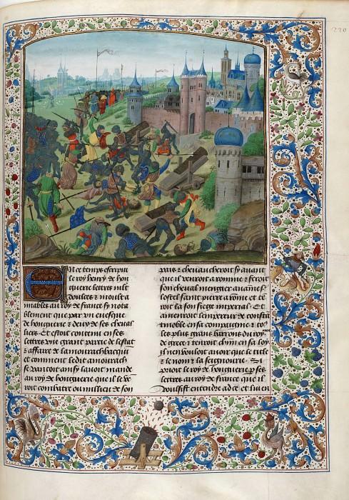 D220R Битва при Никополе между крестоносцами и войсками султана Баязида I 25 сентября 1396 года. Хроники Фруассара